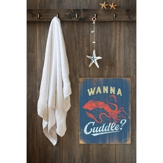 Stupell Industries Cuddle With a Squid Wall Plaque Art