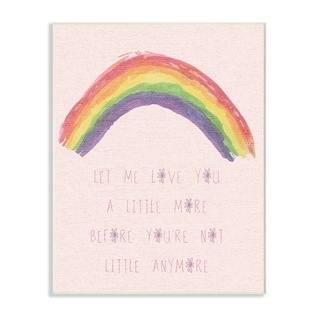 Stupell Industries Love You a Little More Pink Rainbow Wall Plaque Art