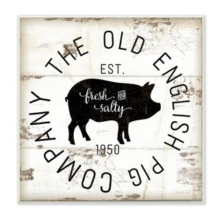 Stupell Industries Old English Pig Co Vintage Sign Wall Plaque Art