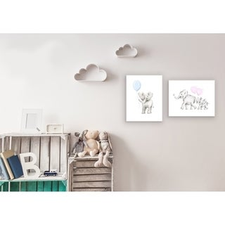 Stupell Industries Mama and Baby Elephants Wall Plaque Art