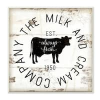 Stupell Industries Milk and Cream Company Vintage Sign Wall Plaque Art