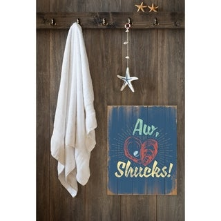 Stupell Industries Aw Shucks Oyster and Pearl Wall Plaque Art