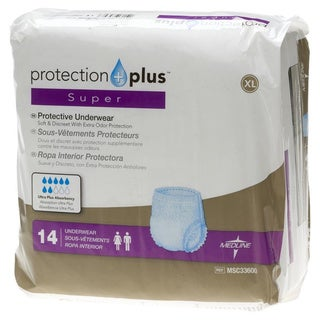 Medline Protection Plus Super Protective Underwear (Case of 80)