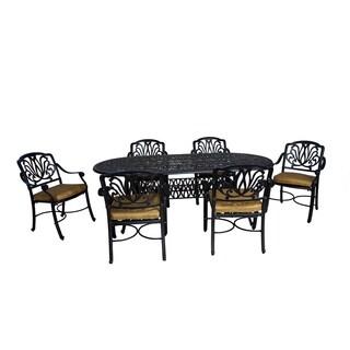 Roma 7-PC Oval Dining Set