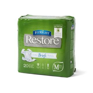 Medline FitRight Restore Ultra Disposable Briefs with Remedy (Pack of 80)
