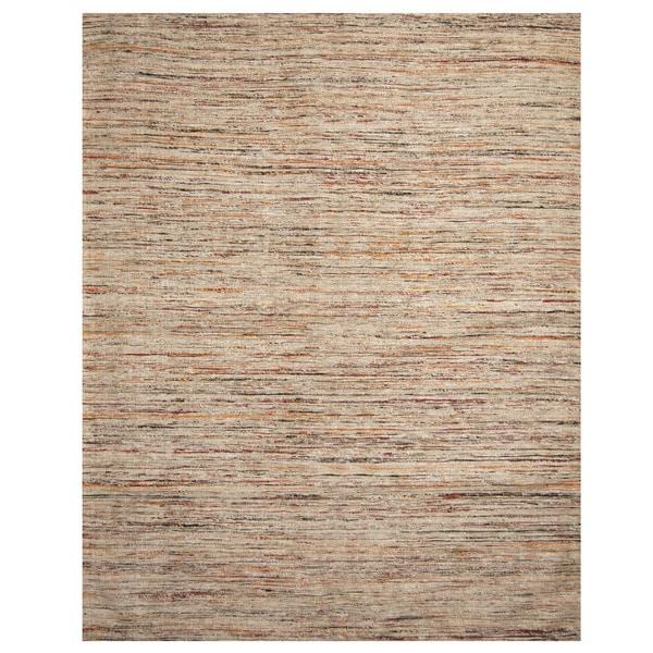 Handmade Chenille Flatweave Rug (India) - 8' x 10'
