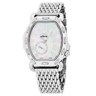 Fendi Women's F84034DCH.BR81 'Selleria' Mother of Pearl Dial Stainless Steel Tonneau Swiss Quartz Watch