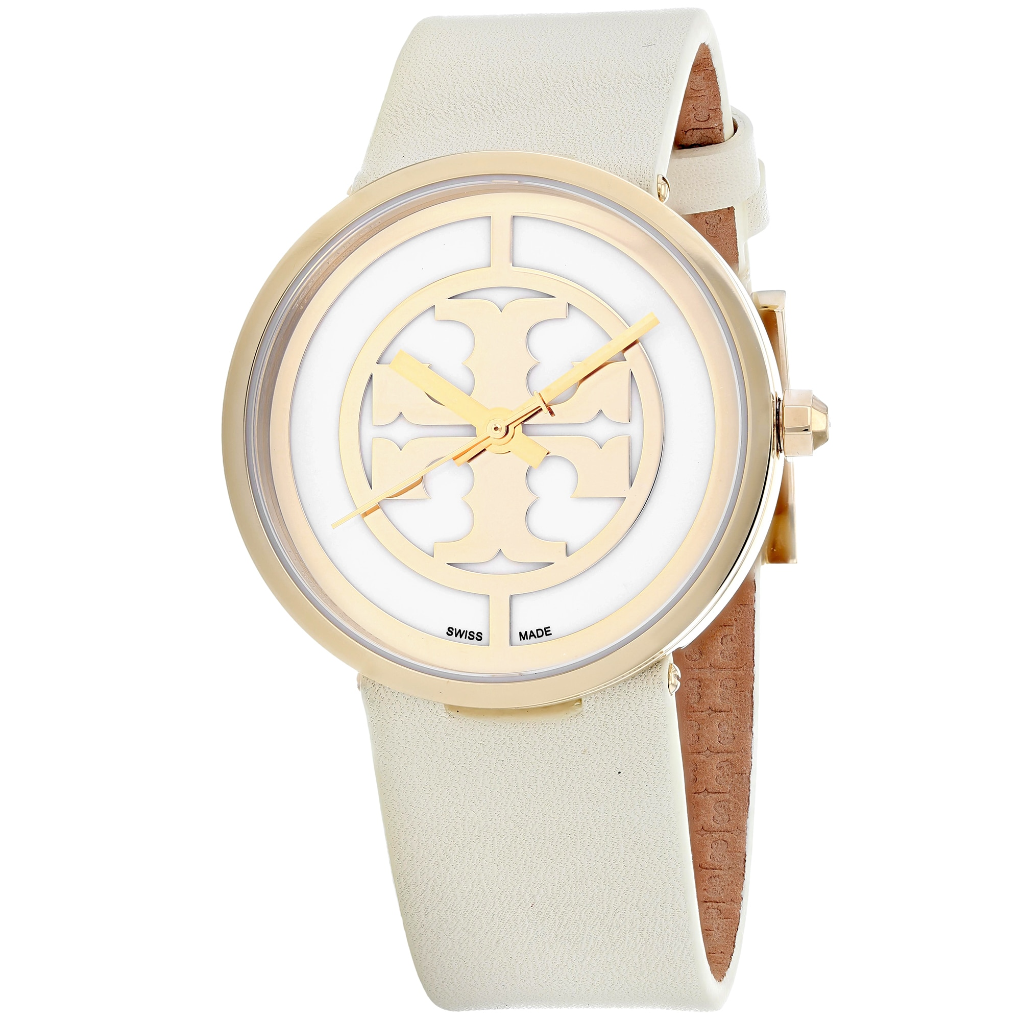 Tory Burch Women's TRB4023 Reva Watches (Reva White), Gol...