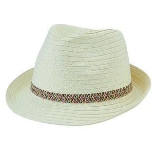 San Diego Hat Company/Four Buttons Collection/Fedora with bow - ivory