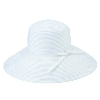 San Diego Hat Company/Four Buttons Collection/Sun brim, poly braid - white