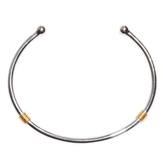 Kabella Steling Silver 3mm Plain Bangle Bracelet