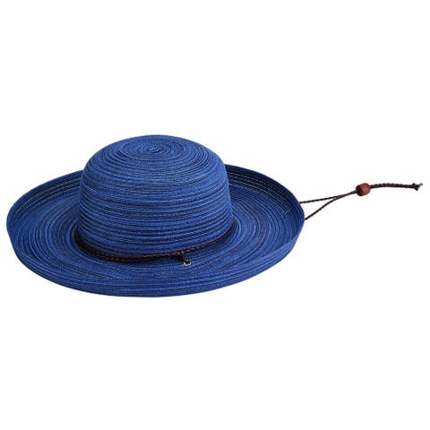 San Diego Hat Company/Four Buttons Collection/Kettle Brim with chin cord - navy