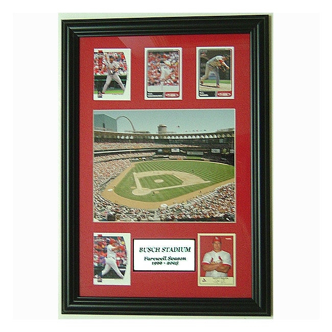 Busch Stadium Farewell with 5 Trading Cards