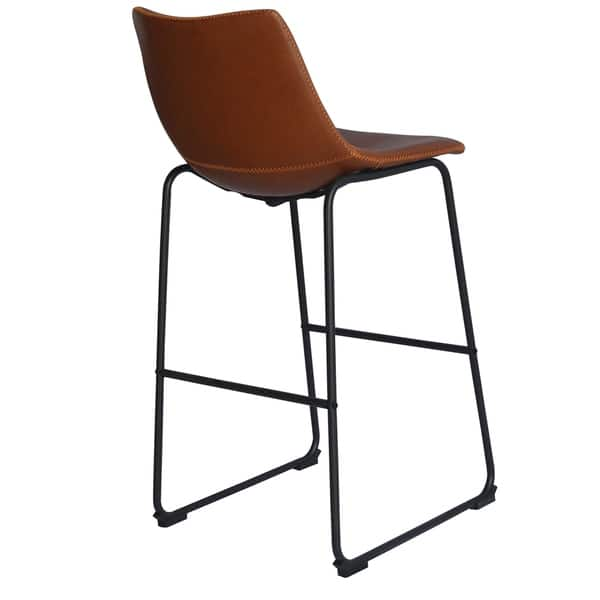 Remarkable Shop Best Quality Furniture Modern 29 Inch Faux Leather Bar Machost Co Dining Chair Design Ideas Machostcouk