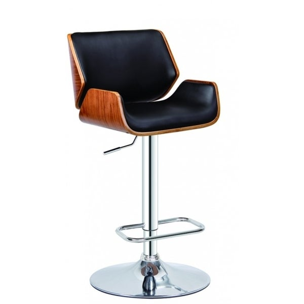 Best Quality Furniture Adjustable Height Swivel Bar Stool with Faux Leather Upholstery