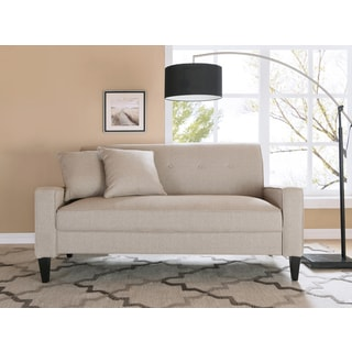 Handy Living Courtney Oatmeal Linen Sofa