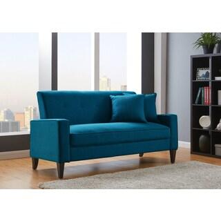 Porch & Den Highland Kensing Blue Linen Sofa