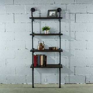Furniture Pipeline Sacramento, 4-Shelf 27-Inch & 33-Inch Wide Etagere Pipe Bookcase Display