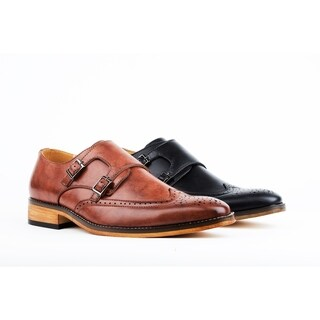 UV Signature Men's Monk Strap Brogue Dress Shoes