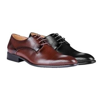 UV Signature Men's Lace Up Plain Toe Dress Shoes