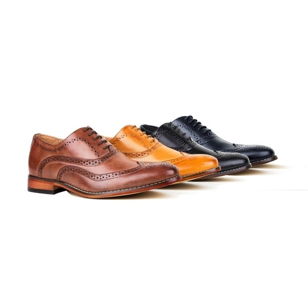 cafd1a75ab Shop Gino Vitale Men's Wing Tip Lace-up Dress Shoes - On Sale - Free ...