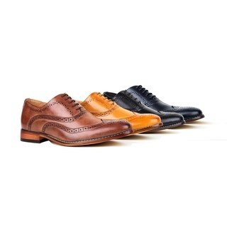 Gino Vitale Men's Wing Tip Lace-up Dress Shoes