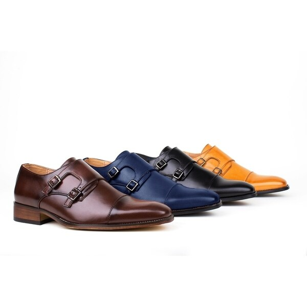 Shop Gino Vitale Men s Monk Strap Dress Shoes - Free Shipping On ... b57c60754