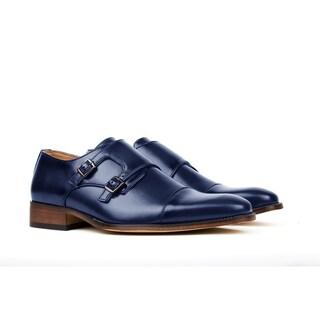 Gino Vitale Men's Monk Strap Dress Shoes