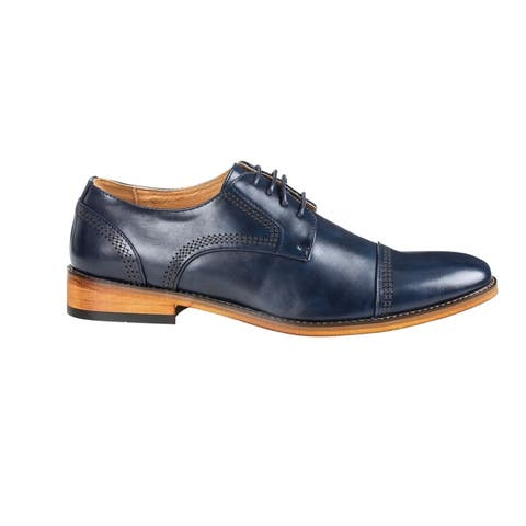 UV Signature Men's Cap Toe Oxfords Dress Shoes