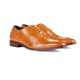 UV Signature Men's Brogue Cap Toe Dress Shoes