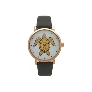 Olivia Pratt Women's Turtle Leather Watch