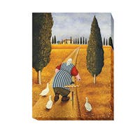 Lady with Fresh Bread by Lowell Herrero Gallery-Wrapped Canvas Giclee Art