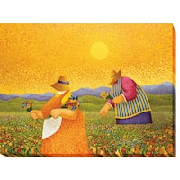 Picking Wildflowers by Lowell Herrero Gallery-Wrapped Canvas Giclee Art