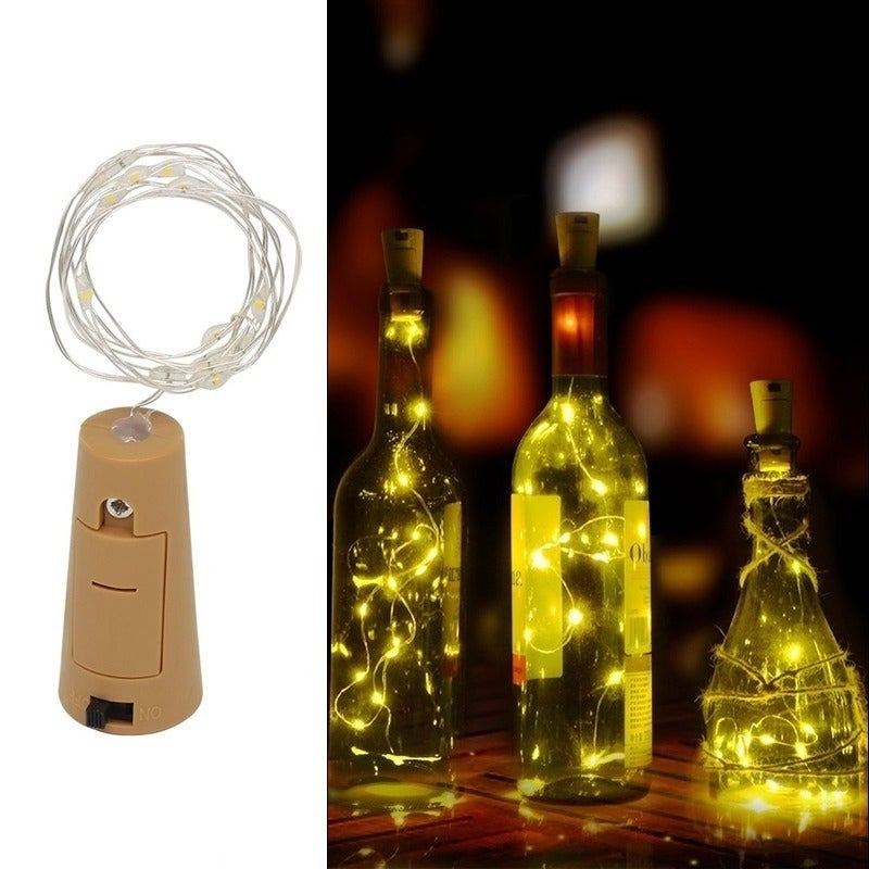 1m Led Wine Bottle Cork Lights For Festival Party Decor Light Bottle Not Included