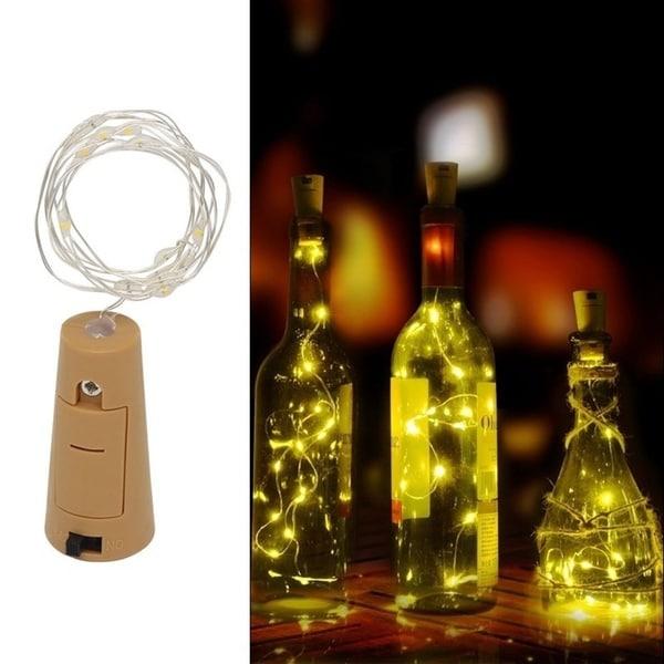 1M LED Wine Bottle Cork Lights for Festival Party Decor Light (Bottle NOT Included)