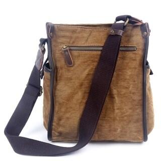 TSD Brand Birch Canvas Crossbody Bag - S