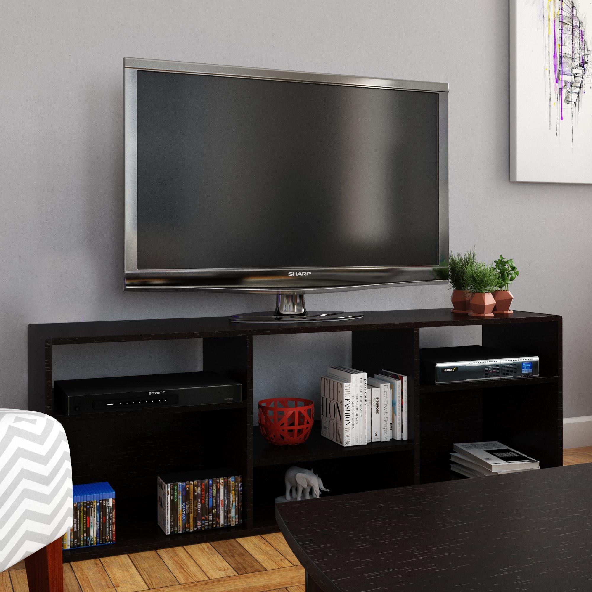 Porch Den Ashland 60 Inch Espresso Bookcase Tv Stand