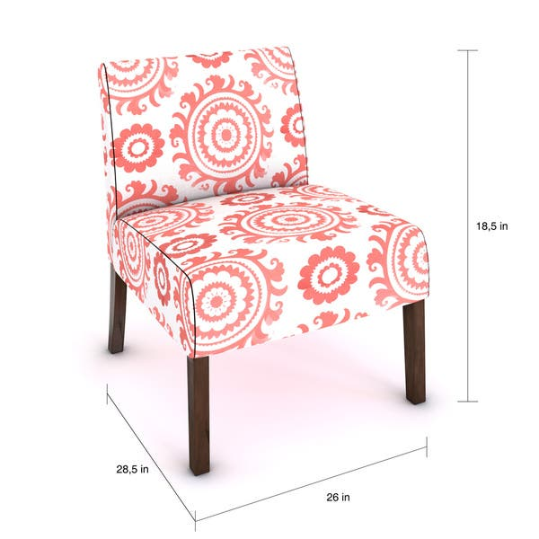 Incredible Shop Porch Den Alcott Pink Coral Medallion Armless Accent Evergreenethics Interior Chair Design Evergreenethicsorg