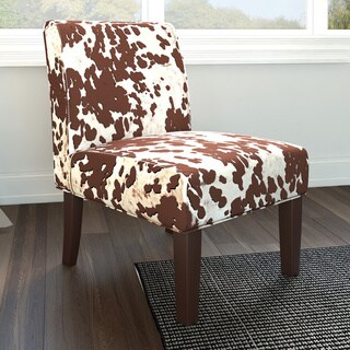Porch & Den Silver Lake Sunset Cowhide Print Fabric Dining Chair