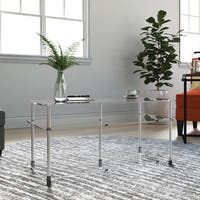 Porch & Den Bywater Chartres Clear Glass 3-tier Coffee Table