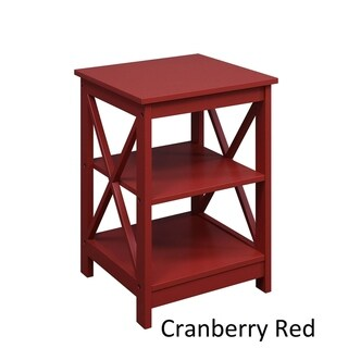 Copper Grove Cranesbill X-base End Table (Cranberry Red)