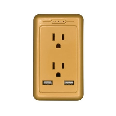 Multi Color 2-Port Rapid Charging USB Wall Outlet & American Socket