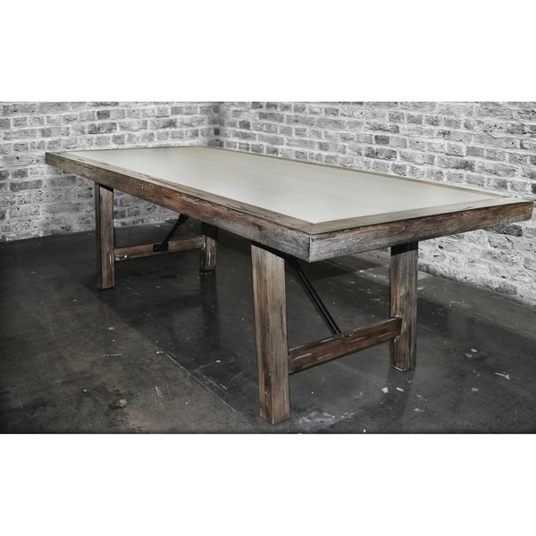 Shop SOLIS Aperto Solid Wood With Concrete Conference Dining Table - Conference table placemats