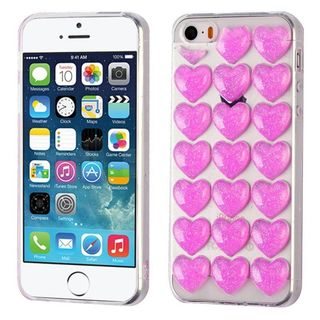 Insten Pink Glitter Powder TPU Rubber Candy Skin Case Cover For Apple iPhone 5/5S/SE