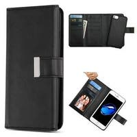 Insten Black Detachable Magnetic Leather Case Cover with Stand/Wallet Flap Pouch/Photo Display For Apple iPhone 6/6s/7