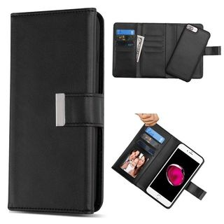 Insten Black Detachable Magnetic Leather Case Cover with Stand/Wallet Flap Pouch For Apple iPhone 6 Plus/6s Plus/7 Plus