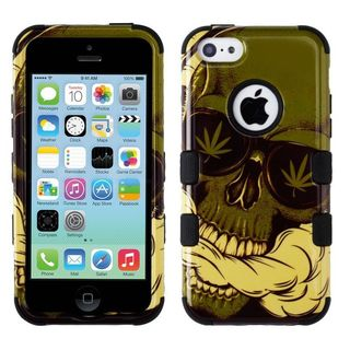 Insten Multi-Color Weed Skull Tuff Hard Snap-on Dual Layer Hybrid Case Cover For Apple iPhone 5C