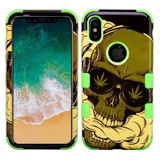 Insten Multi-Color Weed Skull Tuff Hard Snap-on Dual Layer Hybrid Case Cover For Apple iPhone 8