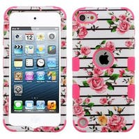 Insten Multi-Color Fresh Roses Tuff Hard Snap-on Dual Layer Hybrid Case Cover For Apple iPod Touch 5th Gen/6th Gen