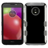 Insten Black Tuff Hard Snap-on Dual Layer Hybrid Case Cover For Motorola Moto E4